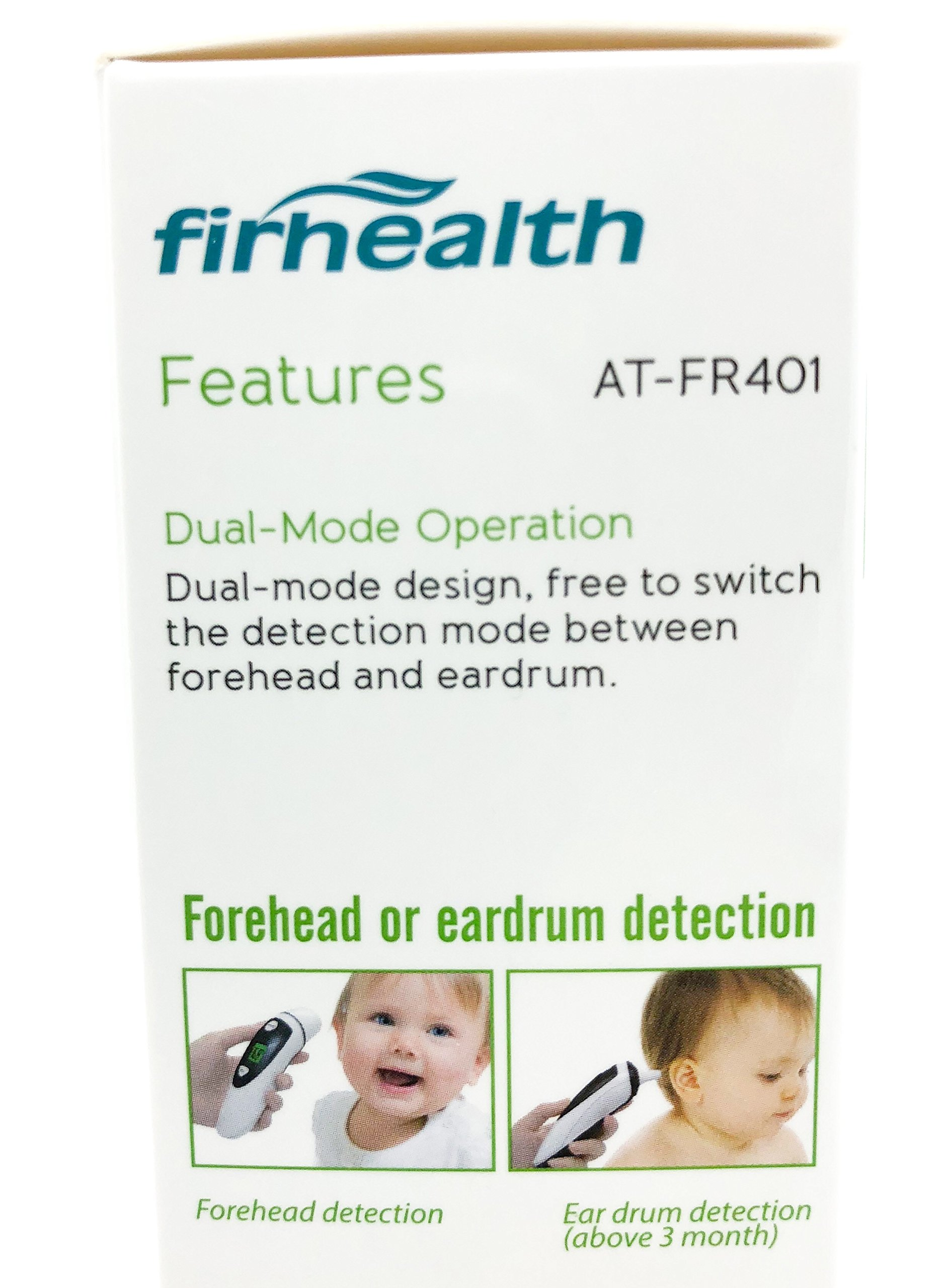 Instant Read Forehead and Ear Thermometer by FirHealth, Baby, Children and Adults. FDA Approved