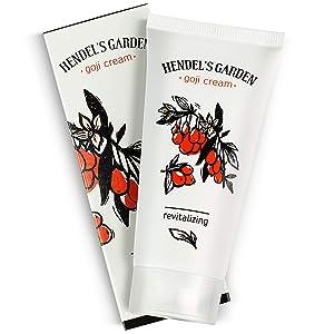 Hendel's Garden Goji Cream Original 50 ml, Rejuvenating Hydrating Face Moisturizer for Younger Skin, Revitalized Radiance - Smoothing, Firming Anti Aging Day, Night Vitamin C Facial Skincare Cream