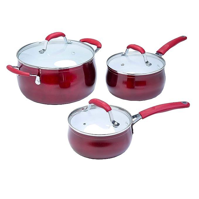 Tasty - Batería de cocina antiadherente (11 piezas, cerámica ...