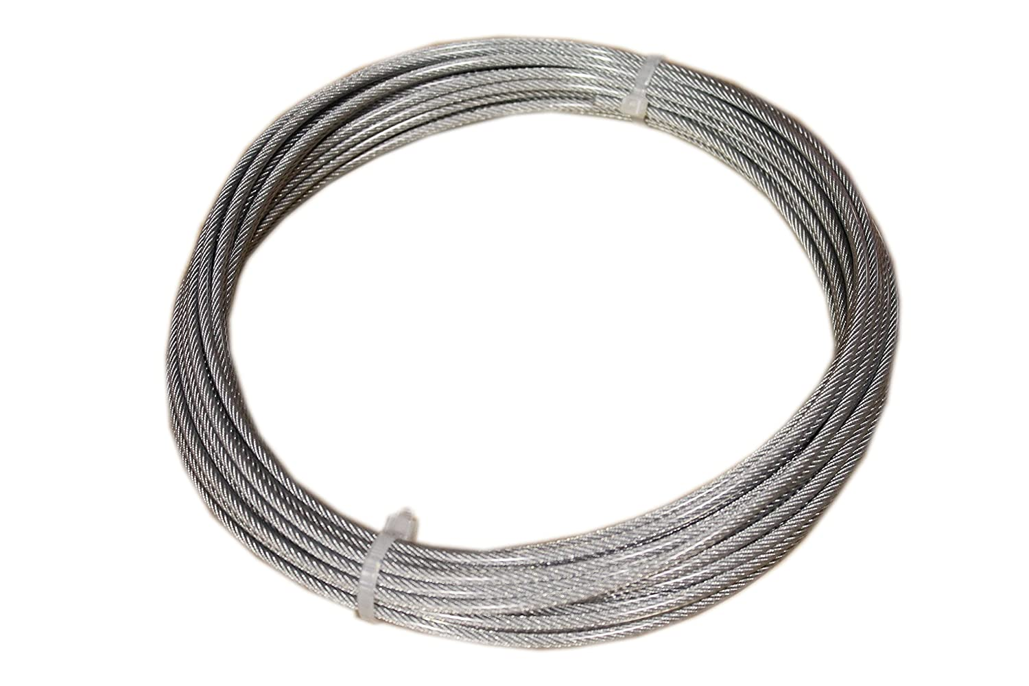 Loos Stainless Steel 302/304 Wire Rope, Vinyl Coated, 7x7 Strand ...