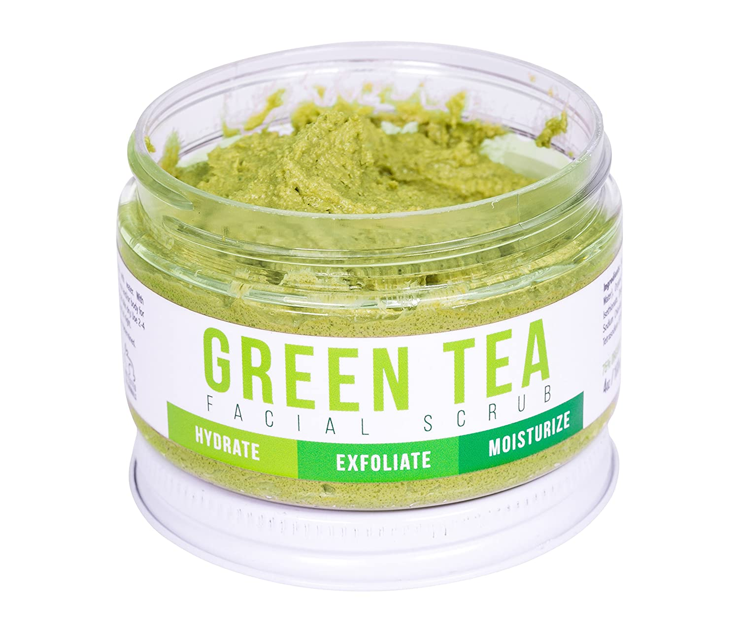 DETOX FACE SCRUB with Green Tea By Teami: Exfoliate, Hydrate, and Moisturize All Skin Types. Our Best Facial Scrubs with Organic Lemongrass for Blemishes & Exfoliating Sugar for Blackheads Teami Blends