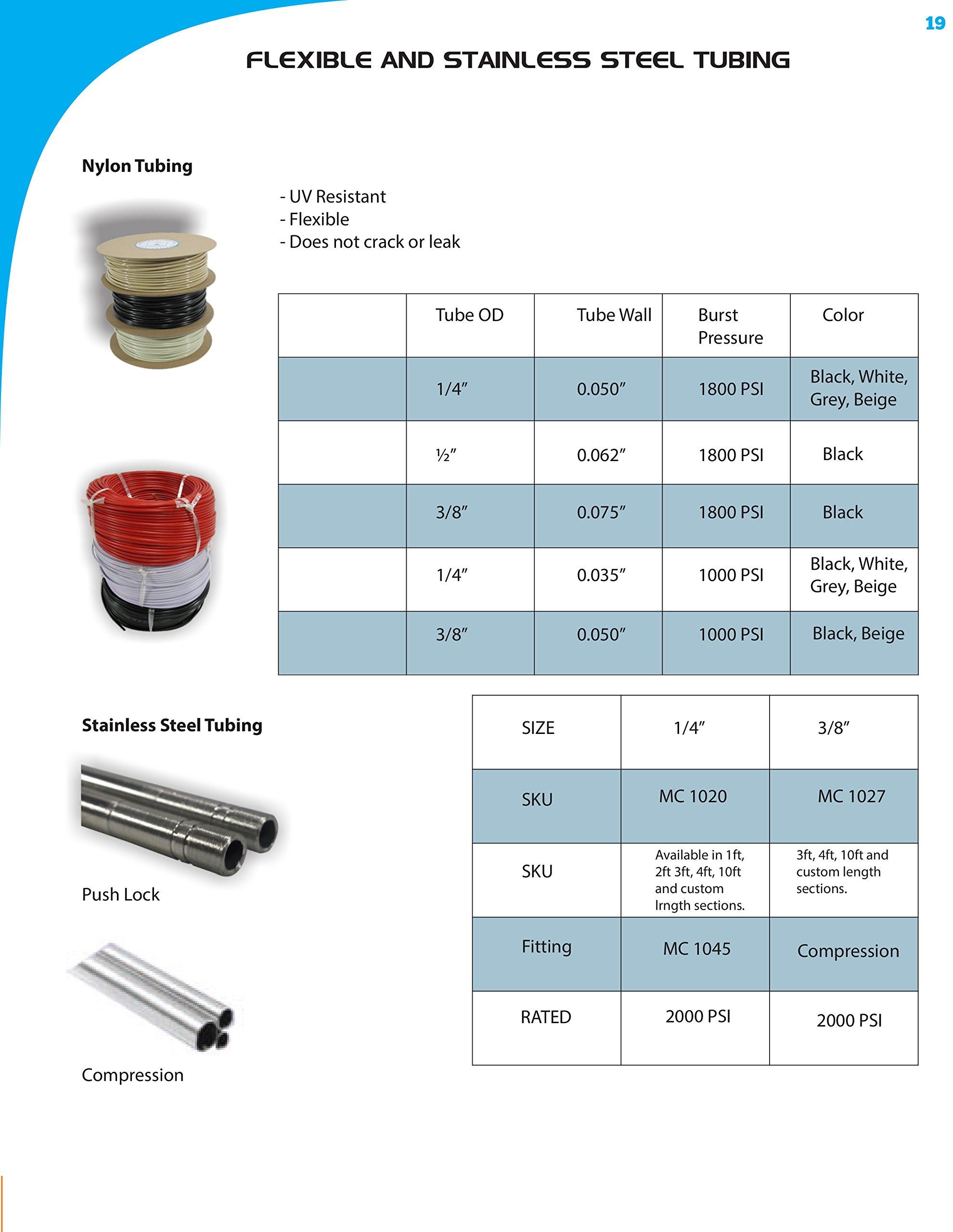 mistcooling HP Nylon Tubing - Rolls (3/8'' - 50ft Roll Blck) by mistcooling