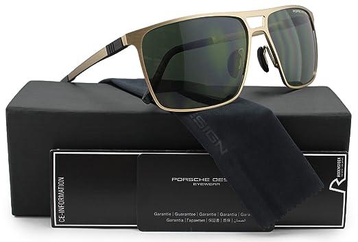 Amazon.com: Porsche Design P8610 D anteojos de sol mate oro ...