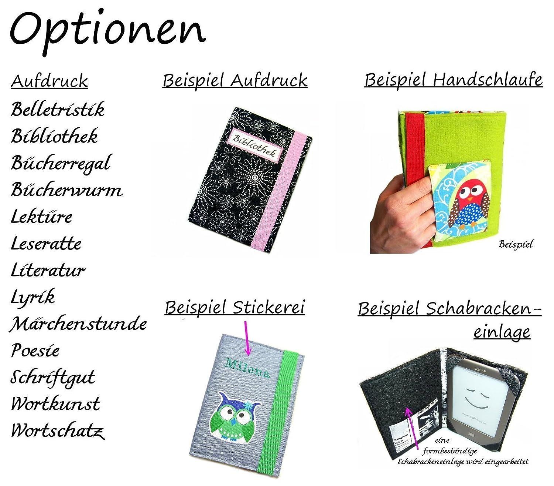 aufklappbare eBook Reader eReader Tablet Hülle Manuskript, Maßanfertigung, z.B. Kindle Paperwhite/Tolino Epos Maßanfertigung
