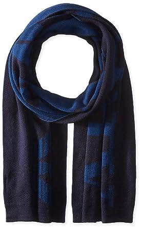 Armani Jeans écharpe homme en laine blu  Amazon.fr  Vêtements et ... 02612935be4