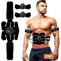ROOTOK Electroestimulador Muscular Abdominales, Masajeador Eléctrico Cinturón con USB, Estimulación Muscular Masajeador…