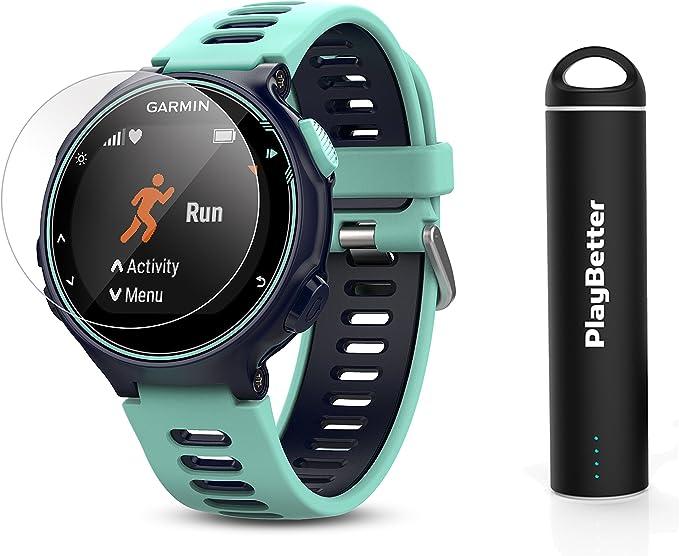 Garmin Forerunner 735XT Power Bundle | Incluye Protectores de Pantalla de Vidrio HD (x2) y Cargador portátil PlayBetter | Reloj GPS para Correr: Amazon.es: Electrónica
