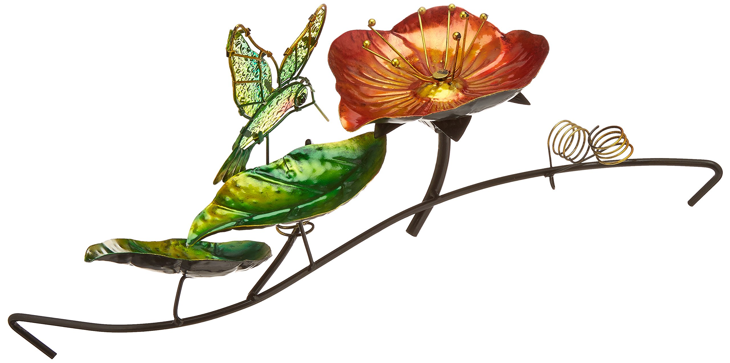 Continental Art Center CAC40079 16.93 by 9.45 by 5.51-Inch Hummingbird Fountain with Plug-In Pump for 18-Inch Glass Bird Bath