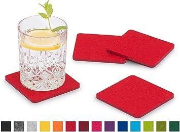 Schön FILU Filzuntersetzer Eckig 8er Pack (Farbe Wählbar) Rot   Untersetzer Aus  Filz Für Tisch