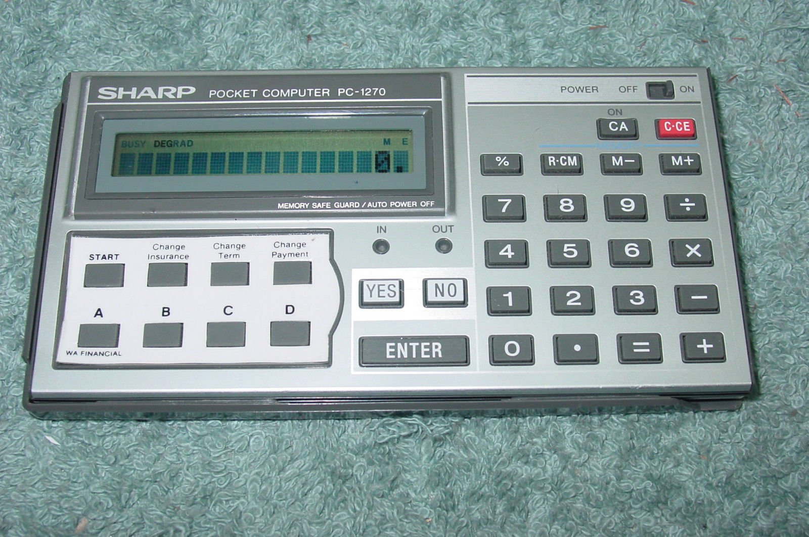 Sharp PC-1270 Pocket Computer Calculator Financial Loan Payments