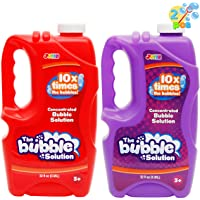 JOYIN 2 Pcs Bubble Solution Refill 32 Ounce (0.95L) for Bubble Machine, Bubble Gun, Party Favor, Bubble Summer Toy