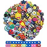 Bokcharms Lot of 25 50 100Pcs Random Shoe Charms for Shoe Decoraiton Bracelet Wristband