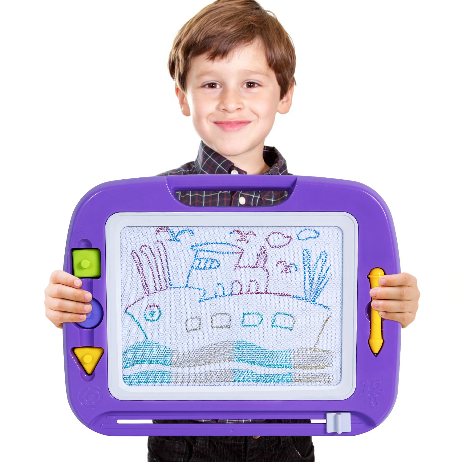 "TONOR Magnetic Drawing Board Toy, 13X17"" Magna Doodle Sketch Erasable Pad for Writing Kids Toddler Boy Girl Painting Learning Birthday Gift Present, Extra Large"