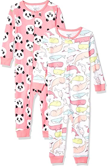 Brand Spotted Zebra Kids 3-Pack Snug-fit Cotton Footed Sleeper Pajamas