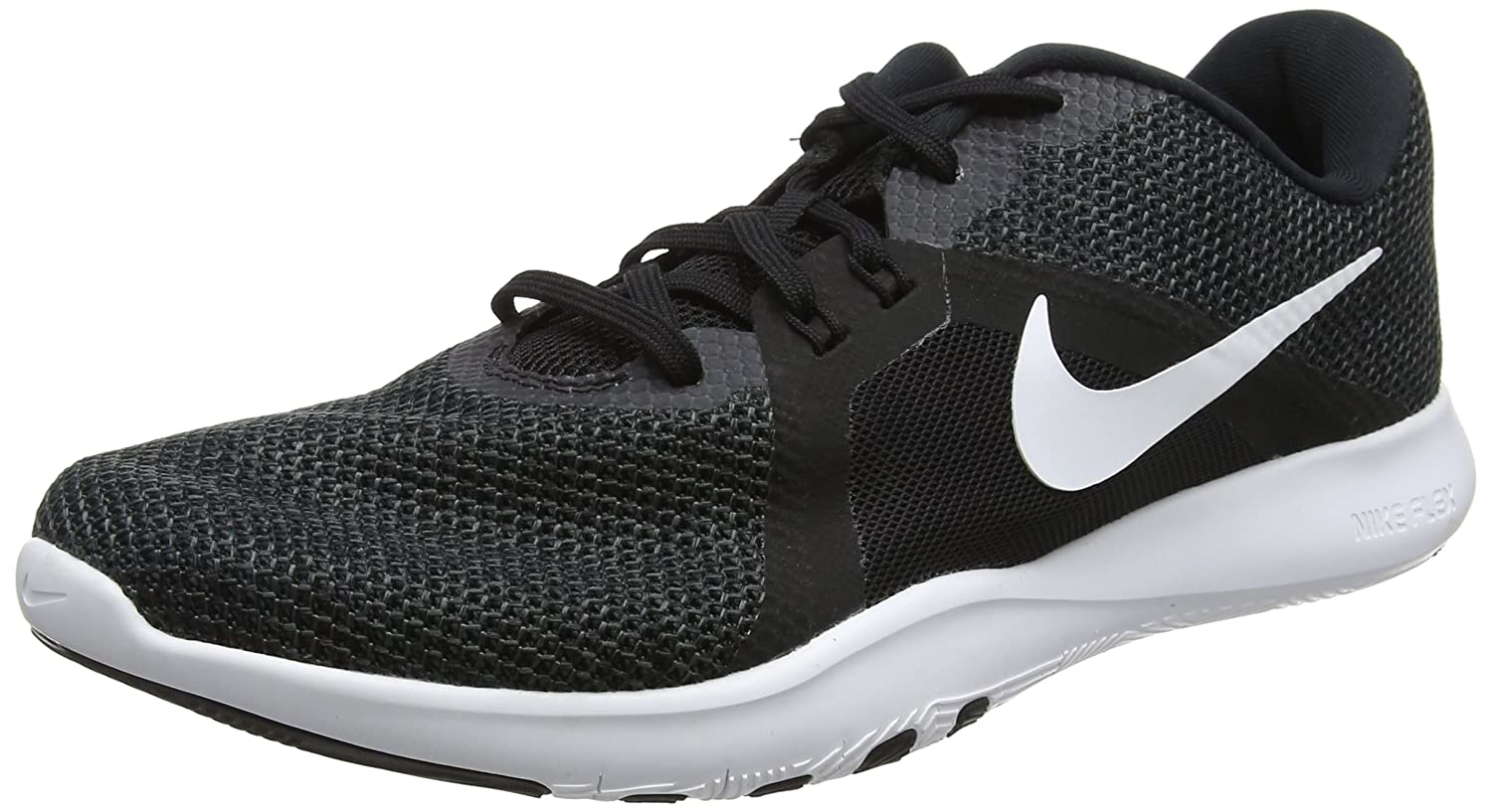 NIKE Women's Flex 8 Cross Trainer B0761XYQC9 6 B(M) US|Black/White - Anthracite