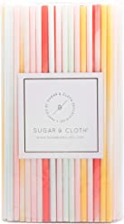 Sugar & Cloth Paper Straws, Ombre Multi Colors, 125 Count