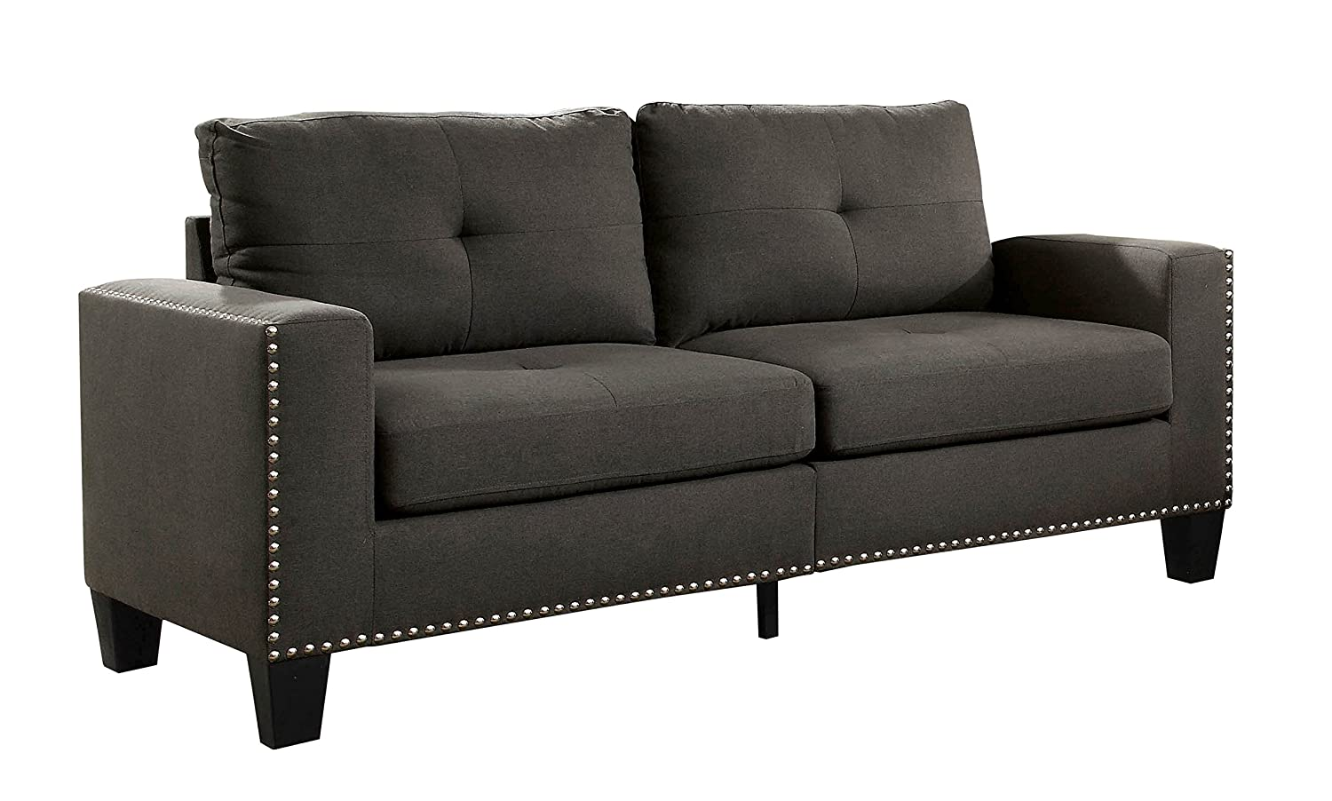 HOMES: Inside + Out IDF-6594-SF Behling Sofa, Grey