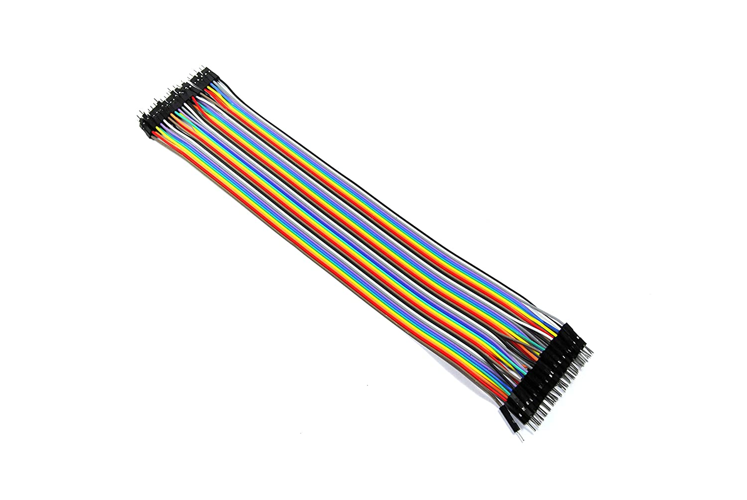 40 Male to Male Jumper Wires Solderless 30cm Ribbon Dupont Arduino