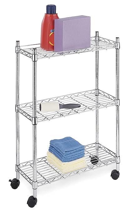 Attirant Whitmor Supreme Laundry Cart And Versatile Storage Solution   Chrome