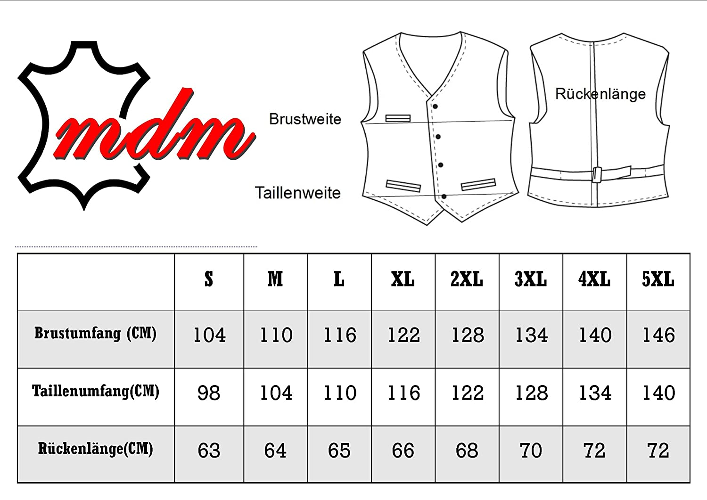 MDM Custom Lederweste aus echtem Leder 3XL