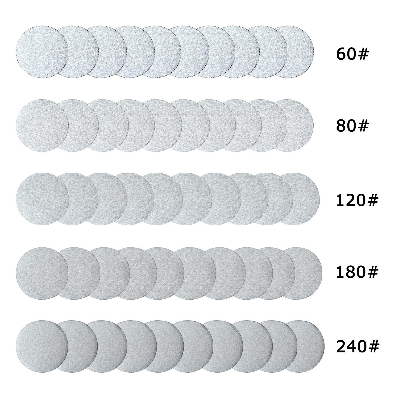 "2' 3' Mini Air Sander Discs Pneumatic Polishing Tool (3"" Hook&Loop Discs) SHININGEYES"