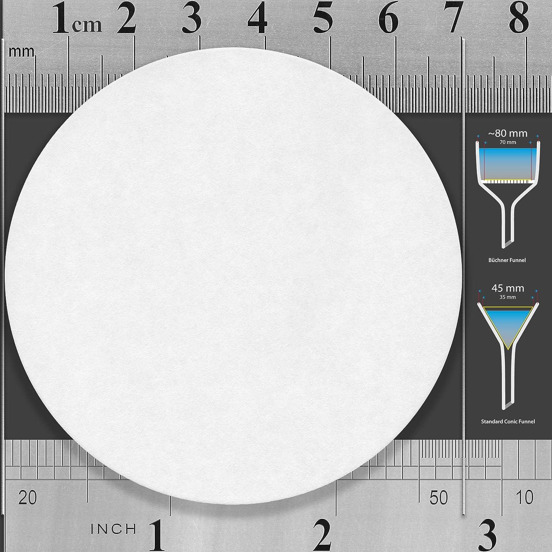 Standard Qualitative Grade 2 100 Discs ZENPORE Slow Flow 90 mm 9 cm Lab Filter Paper