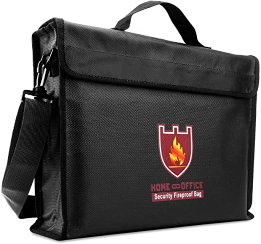 15 X 11 X 3 INCHES Fireproof Documents Bag Document fire Safe