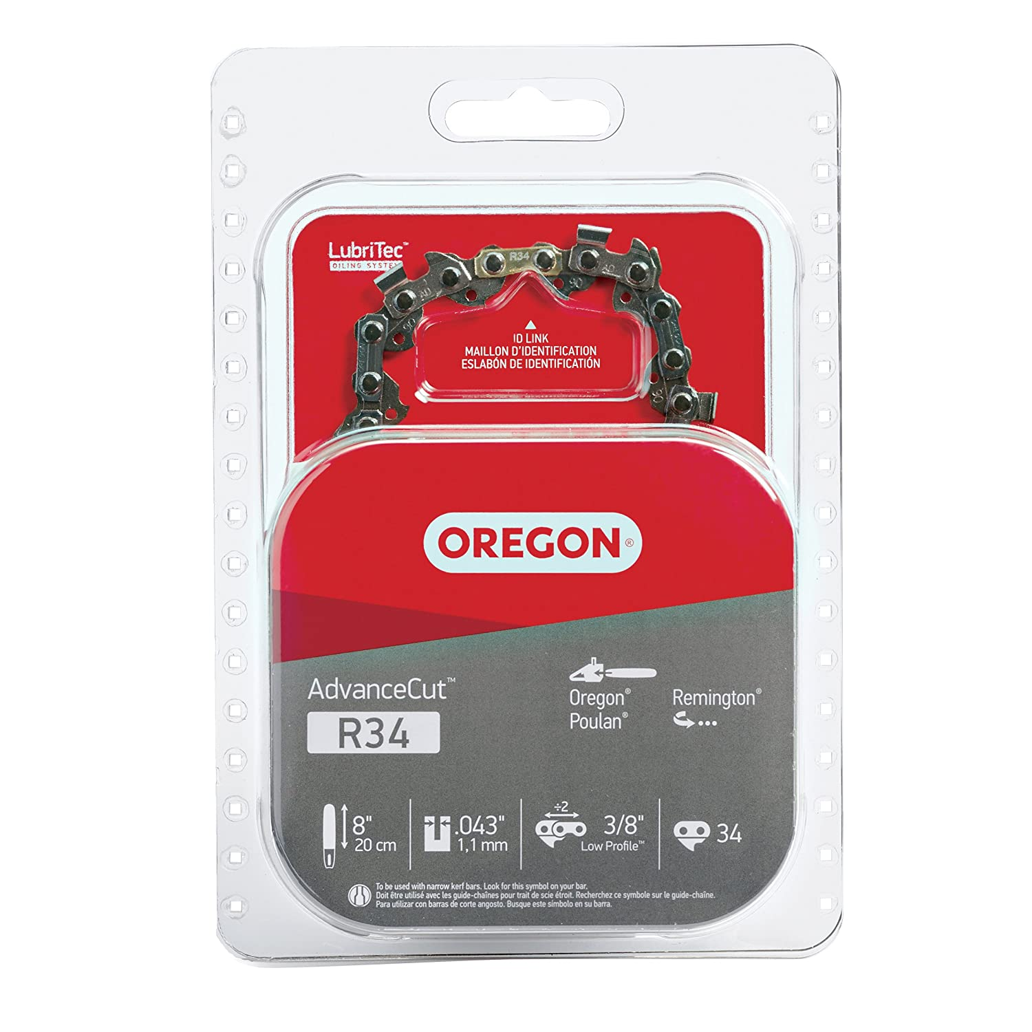 Oregon R34 AdvanceCut 8-Inch Micro Lite Chainsaw Chain Fits Poulan, Remington