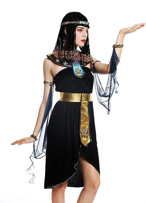 dressmeup - W-0264-M L Costume Donna Carnevale Halloween Egiziana Cleopatra  Donna 43fa44b409d