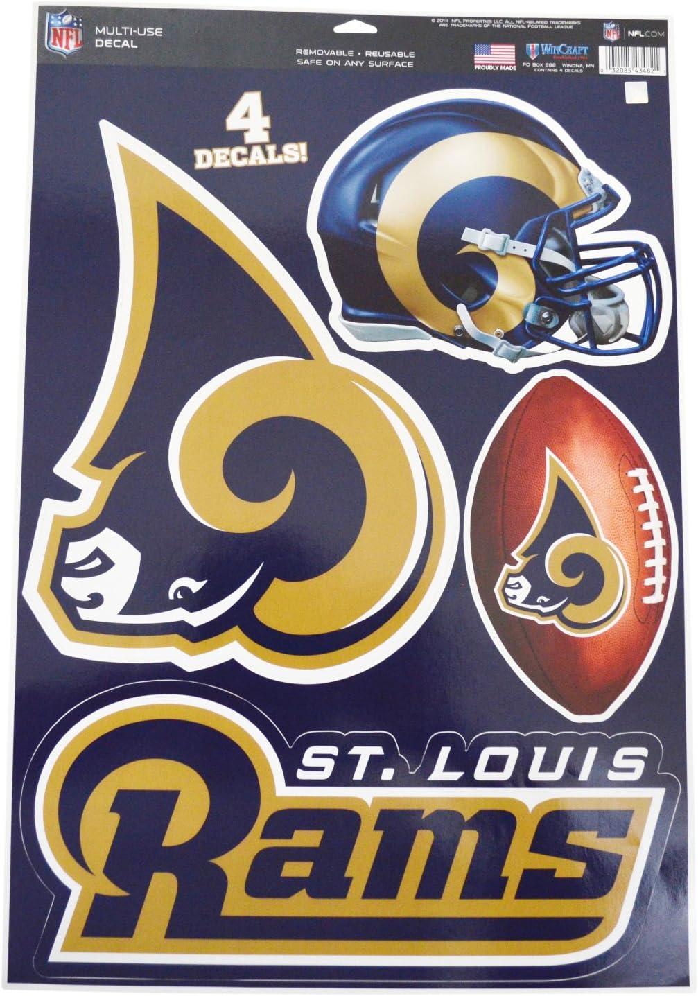 Los Angeles Sport Love Decal 5 X 5 Rams Football
