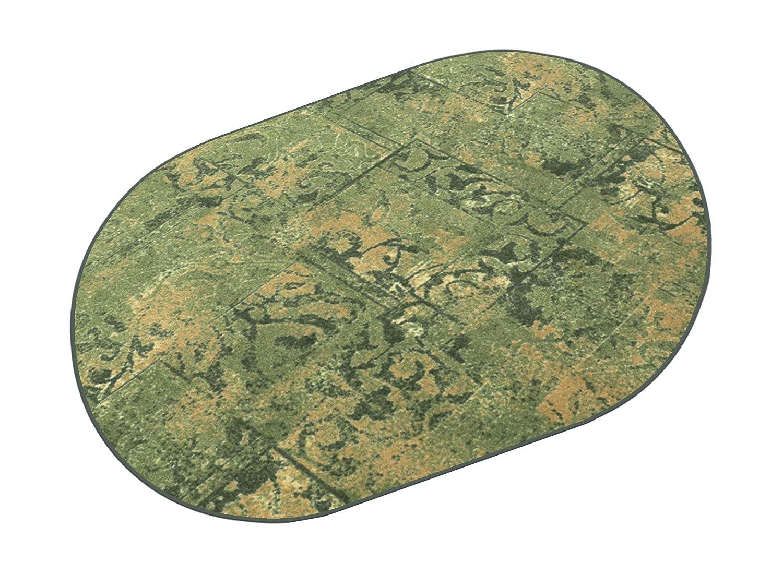 HEVO Hotel Retro grün Kettel Teppich 100% Polyamid 200x280 cm Oval