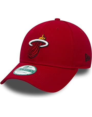 low priced 35df1 bf849 New Era 9FORTY Miami Heat Baseball Cap - NBA Team Colour - Red