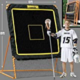 EZGoal 8'X6' Professional Folding Lacrosse Rebounder   LAX Throwback to Practice Your Passes and Catches