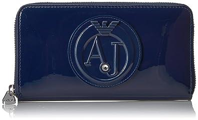 Armani Jeans Ladies Patent Damen Geldbeutel Blau  Amazon.de  Bekleidung ee35065f85