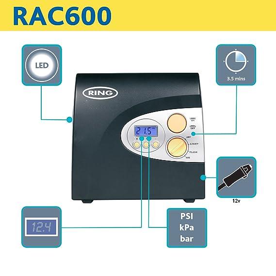 Ring rac600 12v digital tyre inflator -testing youtube.