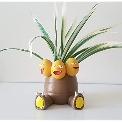 ONESHOT3D Exeggutor Planter Flower Pot - Gift Idea Gamers and Fans: Handmade