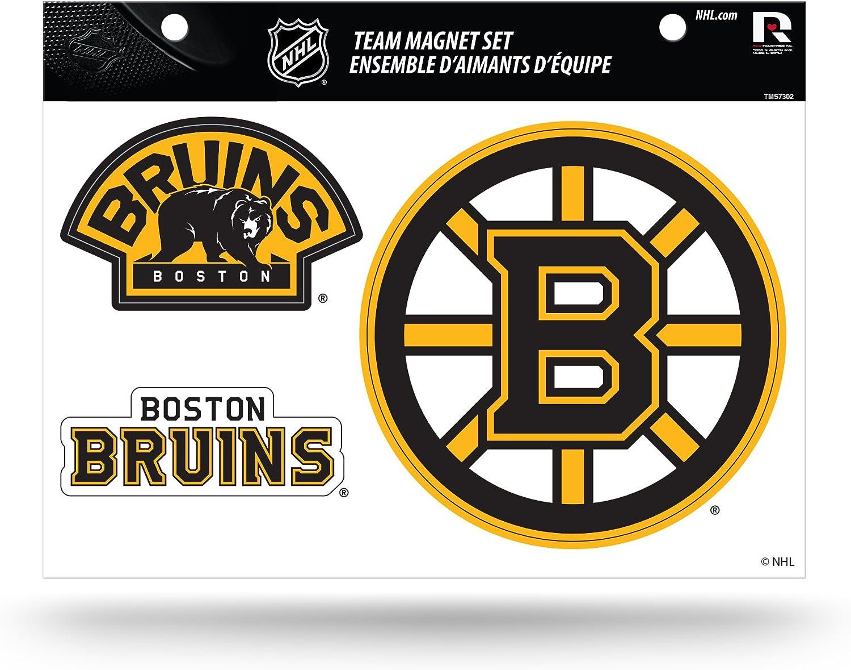 Nhl Rico Industries Die Cut Team Magnet Set Sheet Boston Bruins Sport Freizeit