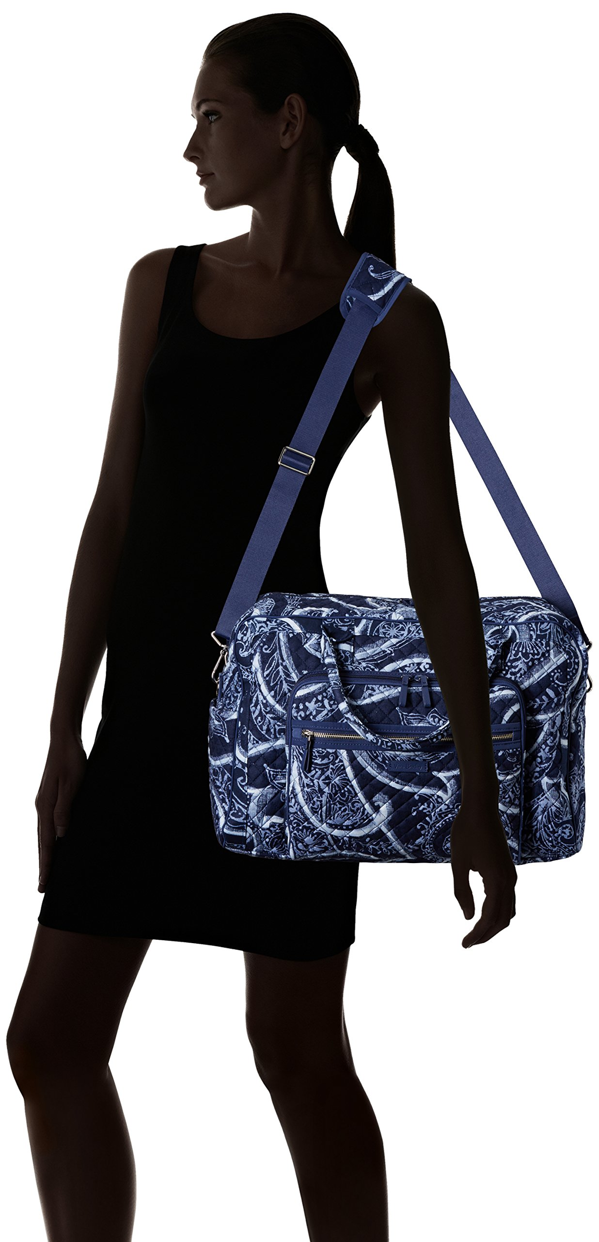 Vera Bradley Iconic Weekender Travel Bag, Signature Cotton, Indio by Vera Bradley (Image #7)