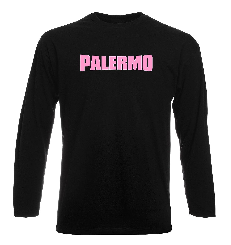 T-Shirt Manica Lunga Uomo Nera T0083 Palermo Calcio Ultras