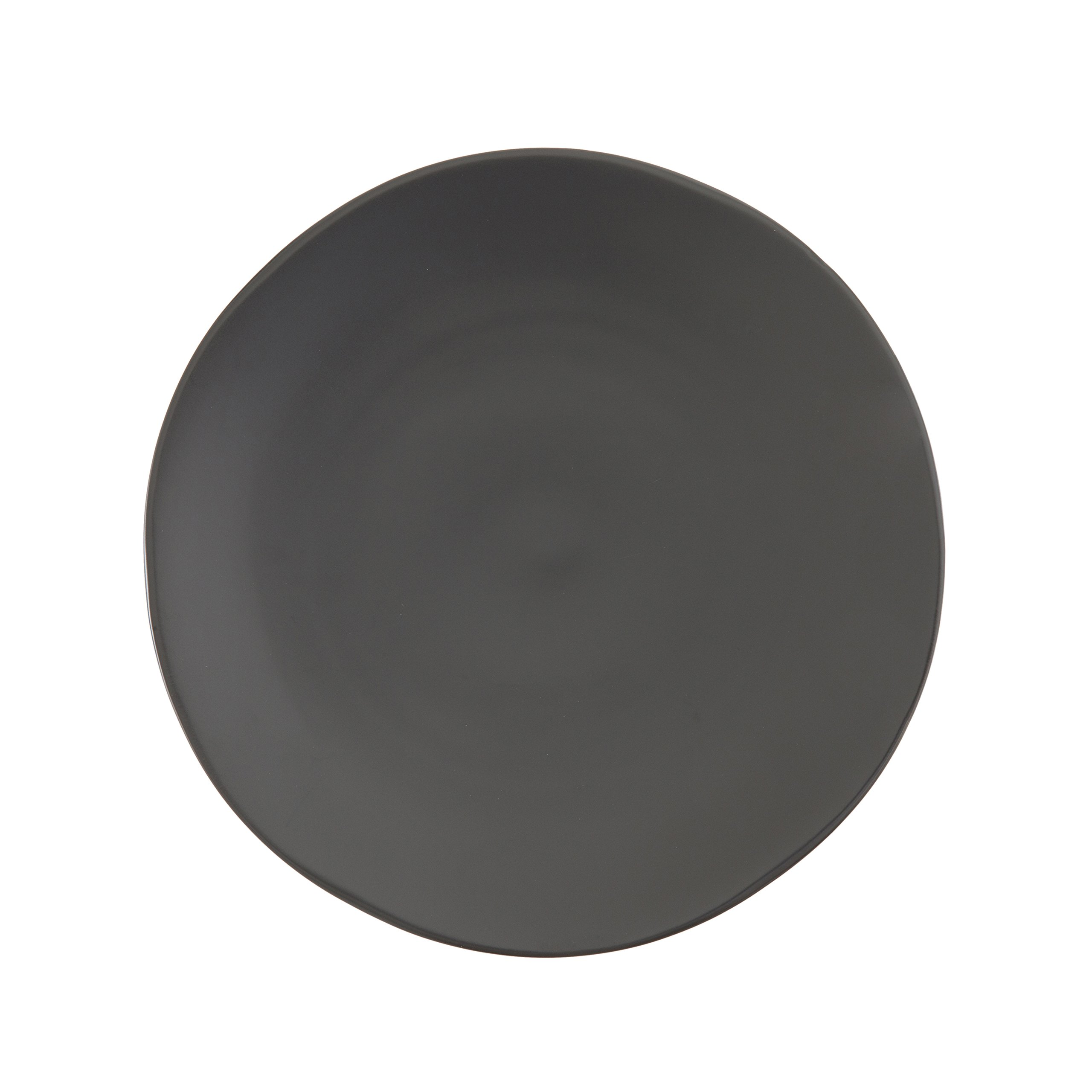 Fortessa Vitraluxe Dinnerware Heirloom Matte Finish Show Plate 12-Inch, Charcoal, Set of 4