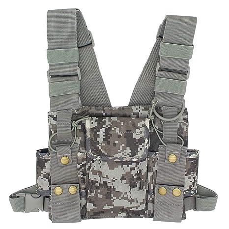 Amazon Goodqbuy Universal Radio Harness Chest Rig Bag Pocket. Goodqbuy Universal Radio Harness Chest Rig Bag Pocket Pack Holster Vest For Two Way Walkie. Wiring. Leather Harness Radio Holster At Scoala.co