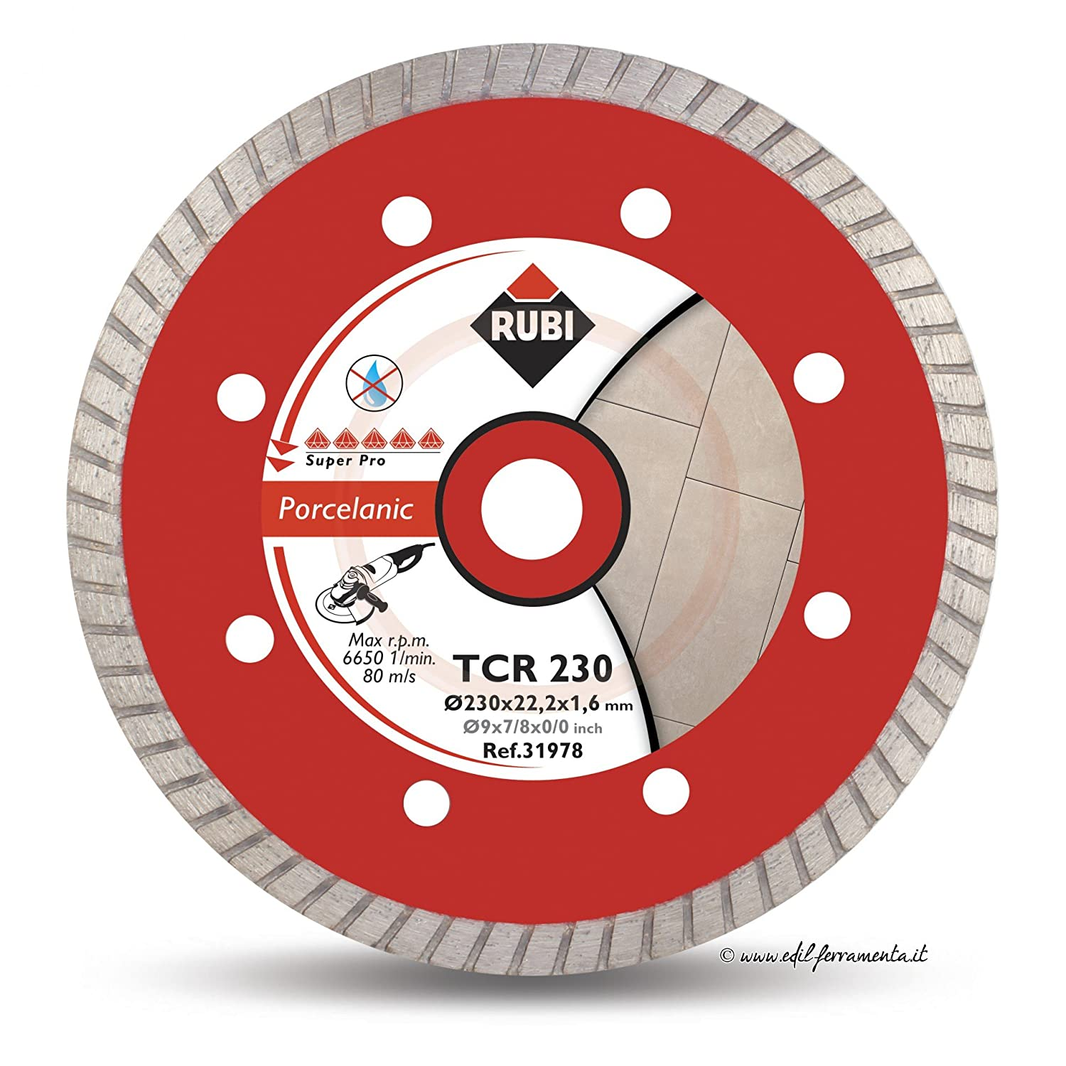 Rubi TCR Superpro Dry Cut Turbo Diamond Blade