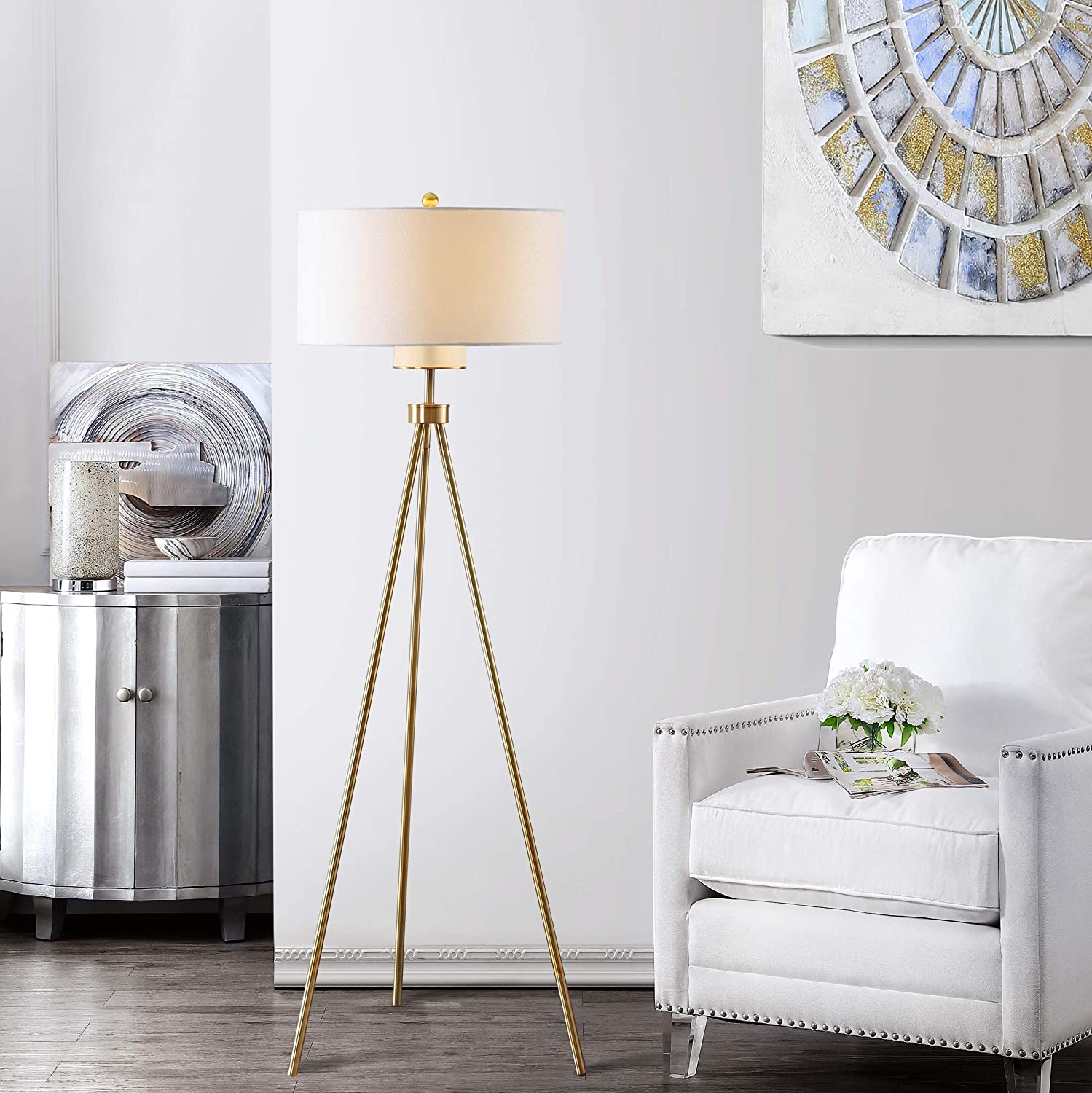 Safavieh Fll4008a Lighting Collection Enrica 66 Brass And Gold Floor Lamp Amazon Com