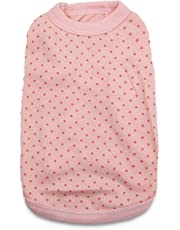 DroolingDog Pet Dog T Shirt Pink Dog Shirts Puppy Plain Blank Clothes for Small Dogs, Small