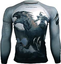 c5e0699ccb5d Btoperform Compression Rash Guard Full Graphic Base Layer Shirts Dragon  Knight [FX-114]