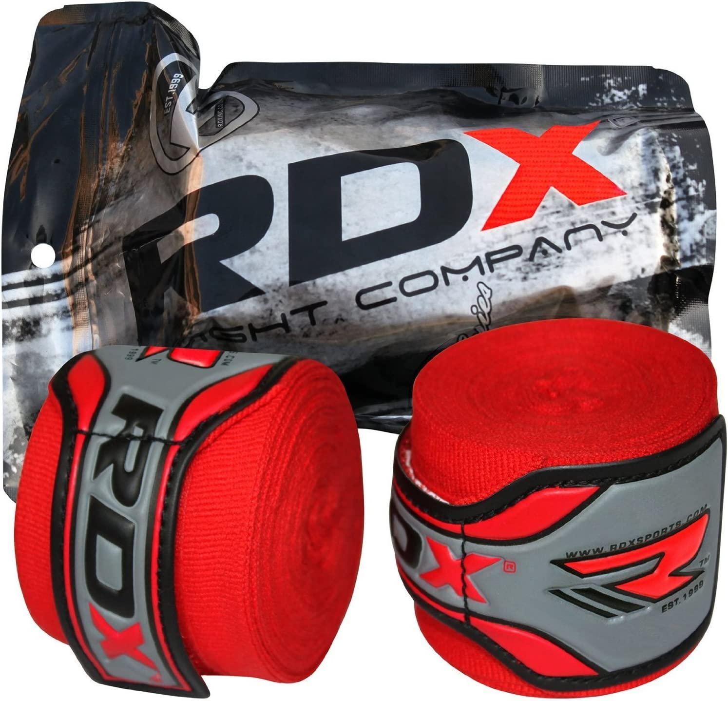 MEHRWEG RDX Boxen Boxbandagen Wraps MMA Elastisch Handschuhe Daumenschlaufe 4,5 Meter Innenhandschuhe Muay Thai