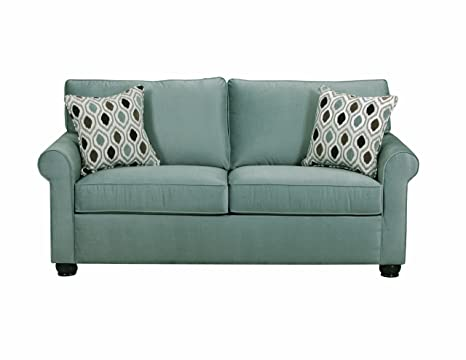 Simmons Upholstery JoJo Spa Apartment Full Sofa, Flannel