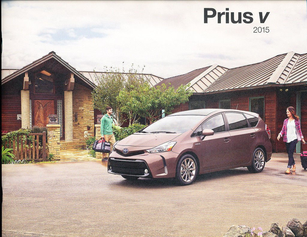 2015 Toyota Prius V Hybrid Electric 22-page Original Car Sales Brochure Catalog
