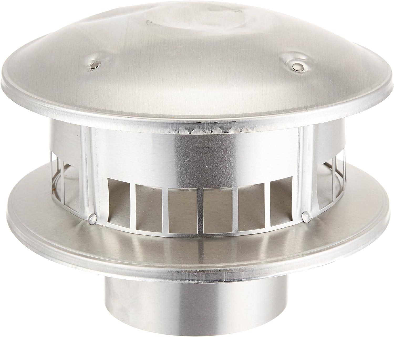 """Selkirk Metalbestos Selkirk 104800 Gas Vent, 4"""" Cap Bird Proof Type B Top Round, galvanized - Roof Vents -"""