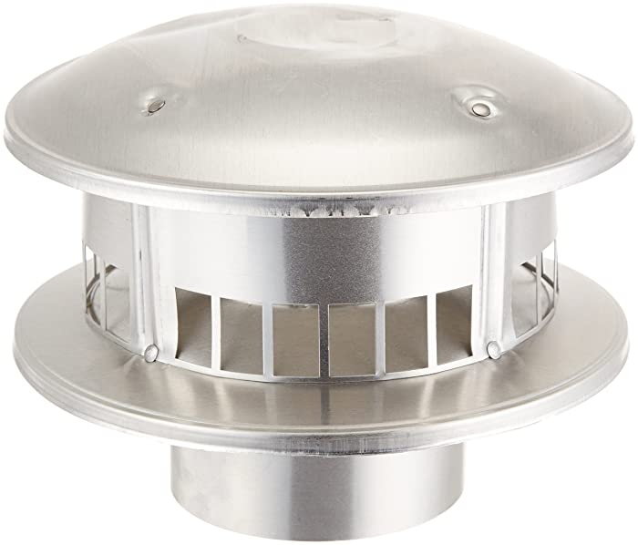 "Selkirk Metalbestos Selkirk 104800 Gas Vent, 4"" Cap Bird Proof Type B Top Round, galvanized"